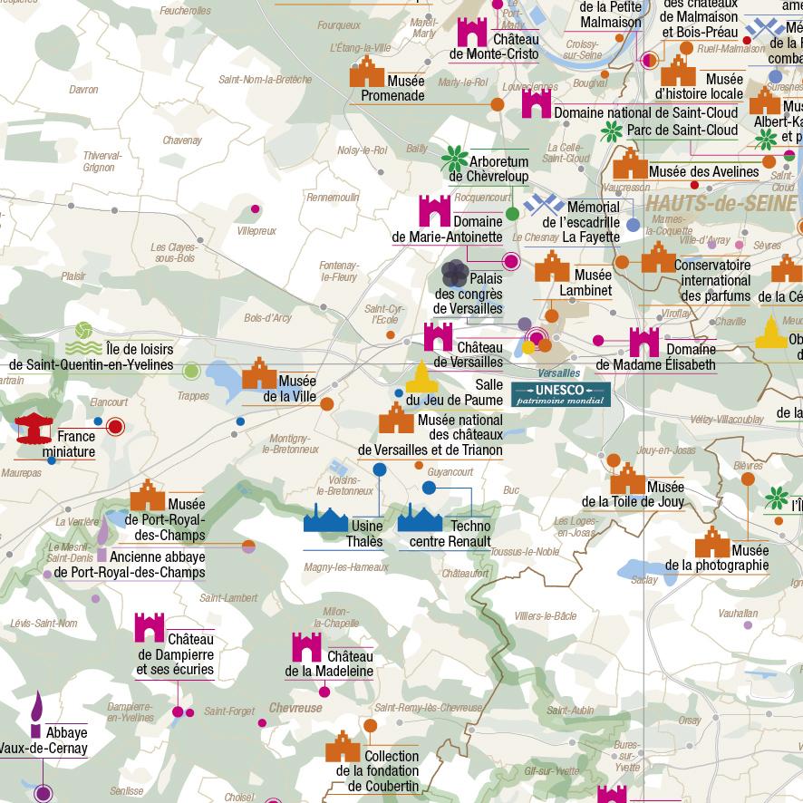 Les sites culturels touristiques et de loisirs en le de for Carte touristique de paris