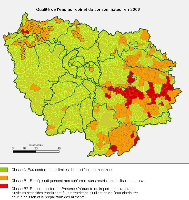 Produits phytosanitaires - Qualite de l eau du robinet en france ...