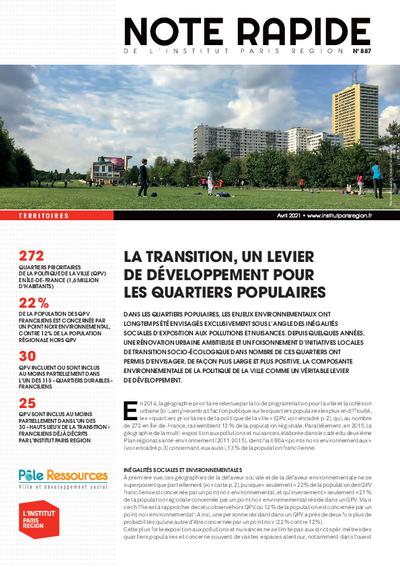 La transition, un levier de développement pour les quartiers populaires
