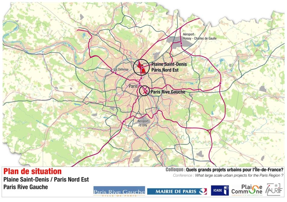 Large Scale Map Of France.Plaine Saint Denis Paris Nord Est